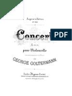 Goltermann, Georg - Cello Concerto No.1, Op.14 (Complete Pf Score, Cello Part)