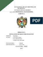 Informe Semestral de Hidraulica Exudacion