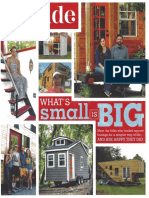 Parade Magazine Tiny House Article - 9 July 2017