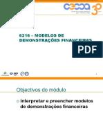 6216 - Modelos de Demonstrações Financeiras