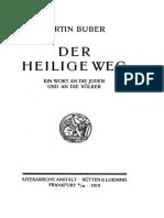 Buber Der Heilige Weg 1919
