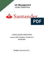 Layout Santander 240 8.2 Extrato Eletronico