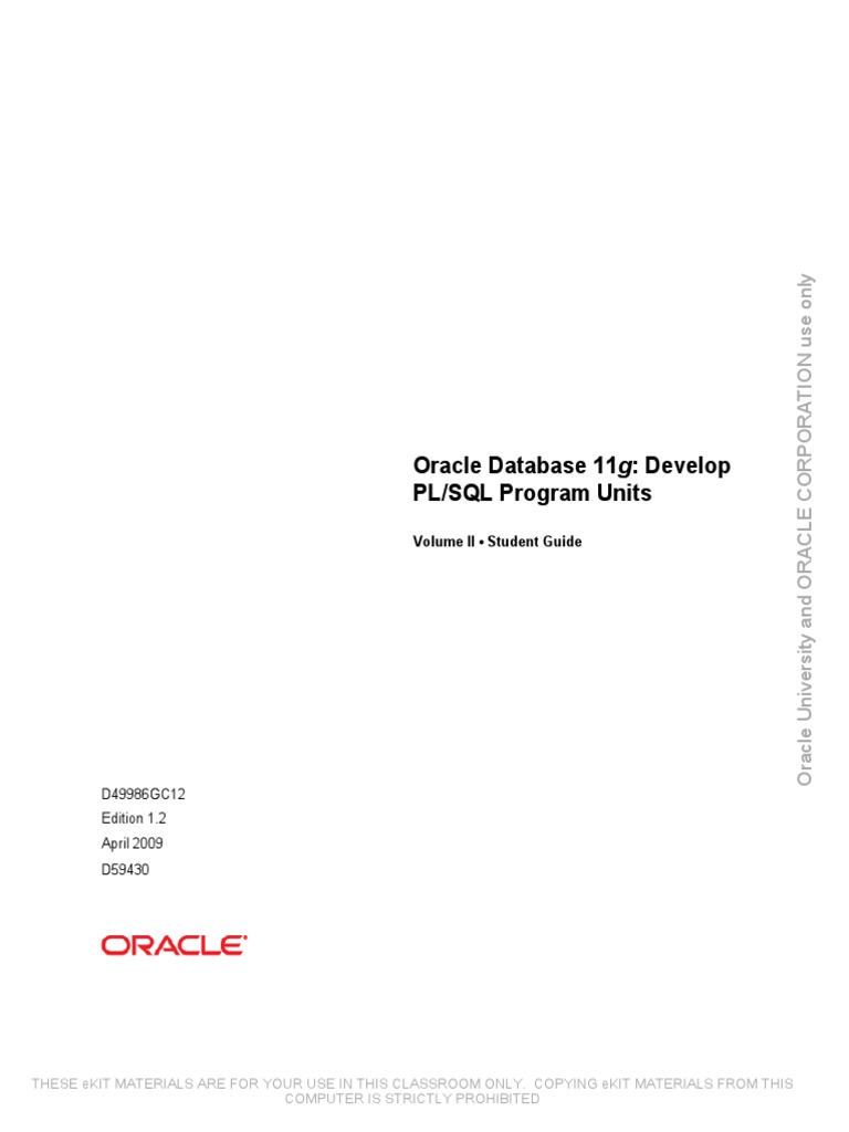 Oracle11g PLSQL Devel (2) Oracle PLSQL | Pl/Sql | Subroutine