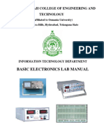 Basic Electronic Lab Manual Bit 231