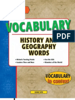 Vocabulary History and Geography Words