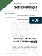 Bases Epistemologicas e Operativas de Uma Didática Do Resumo Documental