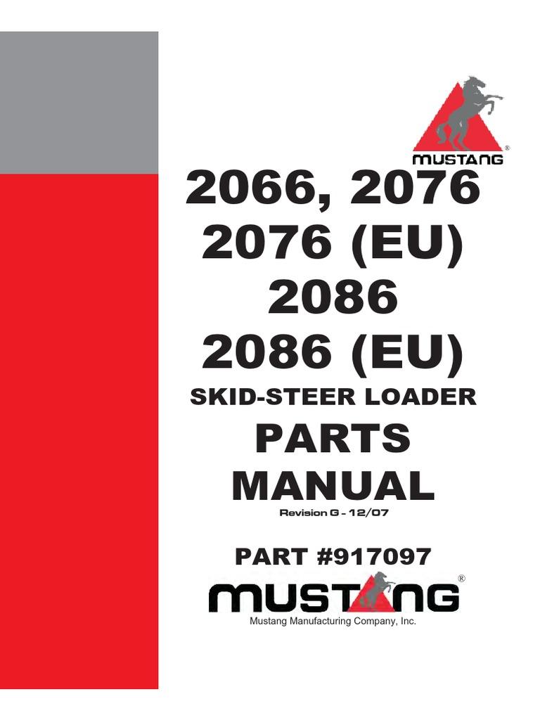 mustang skid steer wiring diagram mustang 2066 2076 2086 screw turbocharger  mustang 2066 2076 2086 screw