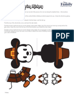 Disney Cutie Mickey Thanksgiving 3D Pilgrim 1012 FDCOM