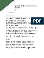 Marco Integrado de Control Interno Latinoamericano