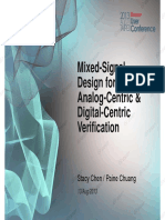 3 Mixed-Signal Design for Analog-Centric Digital-Centric Verification
