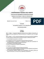 Consulta Reglamento LOT Titulos I,II,III.iv,V_ Alexander Sinche _Derecho Aplicado a Las Telecomunicaciones