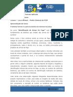 Curso_ Aspectos Práticos de Balística Forense