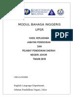 Johor Upsr 2016 English Module