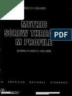 ANSI B1.13M-2001 (Metric Screw Threads-M Profile)