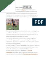 Definición de Fútbol