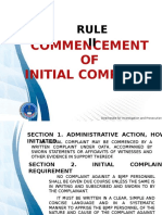 Commencement of Initial Complaint