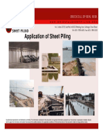 Application of Sheet Piling