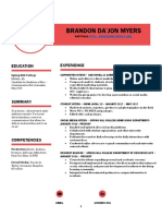 brandon myers resume w ref