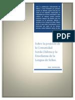 Declaración Enseñanza de la Lengua de Señas Chilena