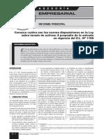 Lectura (Conozca cúales son las nuevas disposiciones en la Ley sobre lavados de activos-DLeg. N° 1106)