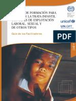 Trata Infantil - Unicef Manual para Facilitadores