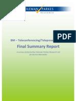 BM Teleconferencing / Travel Survey