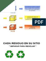 reciclar en tachos