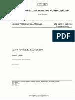 12. Norma INEN Agua Potable 1108