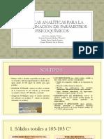 EXPO Técnicas Analíticas Determinación de Parámetros F-Q