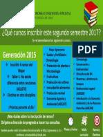 Cursos Recomendados Para Segundo Semestre 2017. Generación 2015