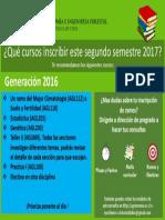 Cursos Recomendados Para Segundo Semestre 2017. Generación 2016