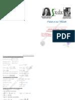 Formulas de Derivadas e Integracion (Tipo Folleto)