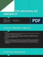 Producción Industrial Del Amoniaco