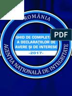 Ghid de Completare a Declaratiilor de Avere Si Interese - Editia Martie 2017