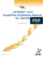 LISTSERV16.0 InstallManual UNIXSimplified