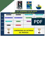Horarios Del Dom 16 Julio 17