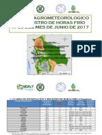 BOLETÍN  AGROMETEOROLÓGICO DE REGISTRO DE HORAS FRÍO N°35 DEL MES DE JUNIO DE 2017