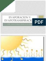 Evaporacion y Evapotranspiracion para hidrologia