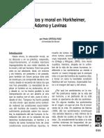 Sentimientos Y Moral en Horkheimer Adorno Y Levinas