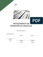 14. PROCEDIMIENTO DE OPERACION DE VEHICULOS.doc