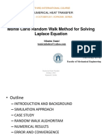 Monte Carlo Random Walk Method for Solving Laplace equation