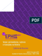 Caderno Resumos VI Ephis UFMG 2017