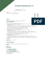 Currículo de Mecânico de Refrigeração e Ar Condicionado Marcelo