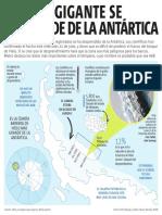 Iceberg gigante se desprende de la Antártica
