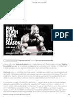 Phil Heath - Dieta de Hipertrofia