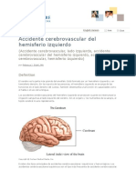 Accidente Cerebrovascular Del Hemisferio Izquierdo - Cancer Care of Western New York