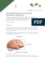 Accidente Cerebrovascular Del Hemisferio Izquierdo - Cancer Care of Western New York