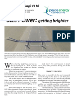 Watt's#110 Sun Power-getting Brighter
