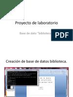 Proyecto Laboratorio Base de Datos