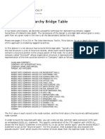 Building the Hierarchy Bridge Table